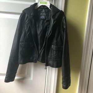 Kids' faux leather jacket